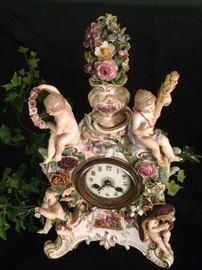 "1880's ""Four Seasons"" Meissen mantel clock"