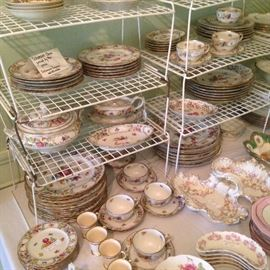 """Schumann """"Empress"""" china with reticulated serving pieces"""
