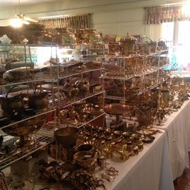 This is all brass ----- some never used straight from the boxes ----- from one of two gift shops Mrs. Fair once owned.