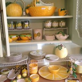 More darling yellow and green serving dishes