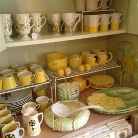 Fun yellow and green serving dishes