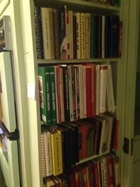 Some of the many cookbooks (over 100)
