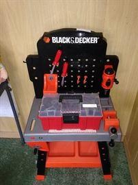 Toy Black & Decker work bench