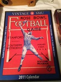2011 calendar copied after the 1936 souvenir program for SMU 1936 Rose Bowl