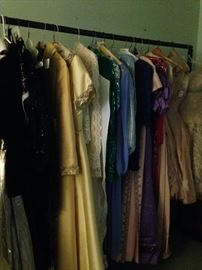 Evening wear and vintage clothing