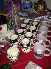 Some of the many Christmas items