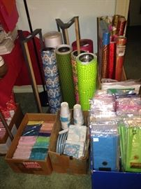 Wrapping paper and tissue of many colors