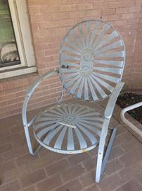 Patio spring chair