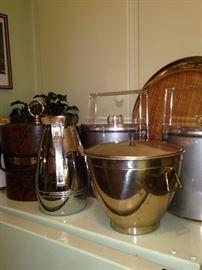 Carafe; ice buckets