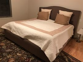 King Size Sleep Number Bed with Beautiful Headboard and Frame!