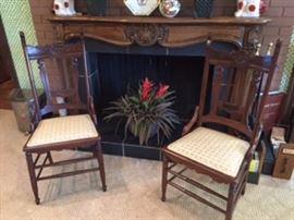 Beautiful Walnut Victorian - Eastlake style chairs