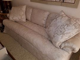 Contemporary Neutral Toned Sofa with Decorator Pillows - Excellent shape - Barrows Furniture Co of Phoenix AZ