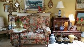"""""""King Chair"""" #1 (love seat to you)   Contemporary end table and coffee table have 2 other pieces that match them"""