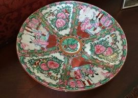 """approx 14"""" 'Rose Medallion' charger - nice"""