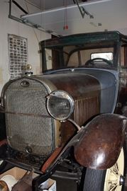 Re-chromed bumper, new seat springs in rumble seat