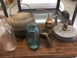 Cast Iron Kettle and Primitives