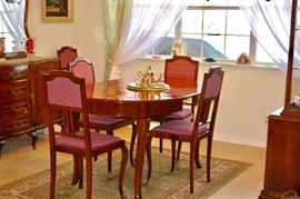 Antique French Dining Room Suite