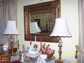 Beautiful Mirror Lamps and misc.