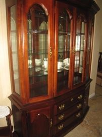 Large Walnut China Cabinet