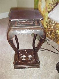 Small mother-0f-pearl inlaid side table, Japanese