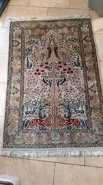 Vintage handwoven Turkish 'Tree of Life' rug. 4x6