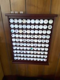 Golf Balls Collection - 100 unique Golf Balls in hand-built display cabinet. There are 2 of these cabinets.