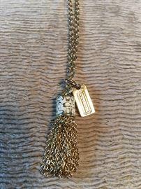 Coach logo necklace