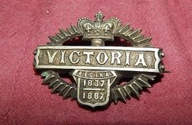 antique Queen Victoria pin