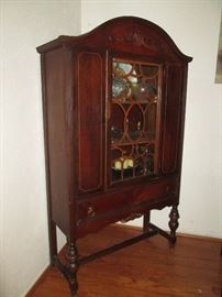 Beautiful Antique China Cabinet with Spade Legs
