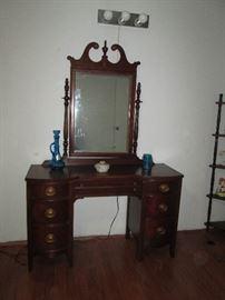 Antique Vanity / Desk with Mirror