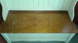 Wood Storage Bench / Cabinet / Hall Tree: $125