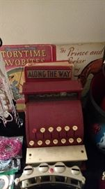 VINTAGE CHILDREN'S BOOK & CASH REGISTER