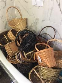 A bathtub full of baskets!