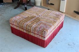 Custom Fabric Ottoman. Shop now at www.SimplyEstated.com!