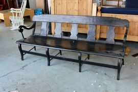 Antique Pine Painted Bench. Shop now at www.SimplyEstated.com!