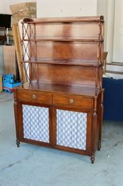 Antique Serving Cabinet with Hutch. Shop now at www.SimplyEstated.com!