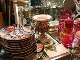 Imari plates and platter for a perfect table setting