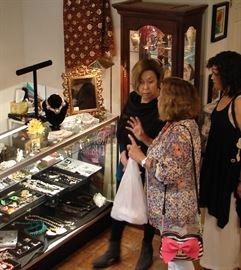 Shoppers enjoy Salado Creek Market indoor shopping at the Gallery.
