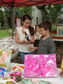 Audrey and Tristin helped sell at the February market