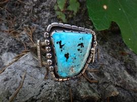 Atwell turquoise cuff by Tom Dewitt