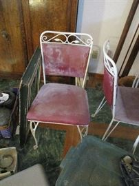 CHAIRS TO WROUGHT TABLE