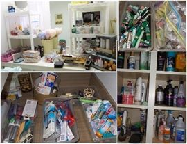 Bath and beauty items - enough to open a store.  Shampoo, soap, tooth brushes, tooth paste, adult diapers, make up, cosmetics, lipstick, cologne, perfume