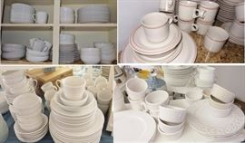 White China and Dishes by American Atelier, Chef's Collection (Ciroa), Sonoma Horizon, Williams-Sonoma Tuscan Olive
