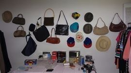 Handbags, scarves, Purses and handbags, wallets, make up cases, Men's and women's hats new to old