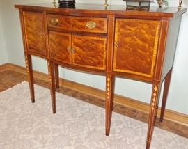 1940s buffet.  Beautiful inlaid wood design