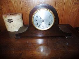Vintage fireplace clock