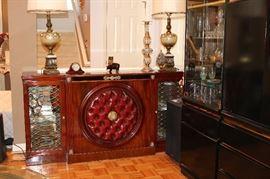 """The Aristocrat of Fine Furniture"" Natale Hidden Liquor Cabinet Bar."