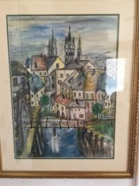 Lovely painting by local artist A Von Busch 95.00