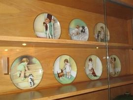 Betsy Pease Gutmann Plates (all puppies)