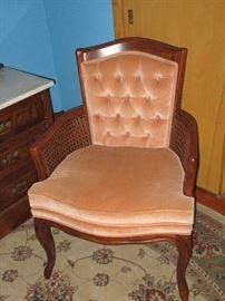 Wicker-armed chair